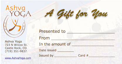 Ashva Yoga gift card